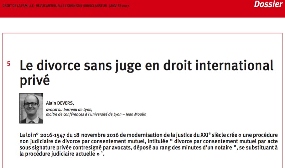 Divorce International Sans Juge Alain Devers Avocat
